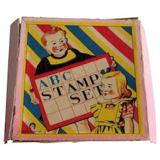 Vintage Children's ABC Toy Stamping Set