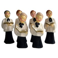 Vintage 1940's Boys Choir Ceramic Figurines