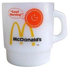Vintage 1970's Anchor Hocking Fire King McDonald's Restaurant Coffee Mug