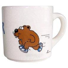Vintage 1983 Guhl Of England Ceramic Gopher It Coffee Mug