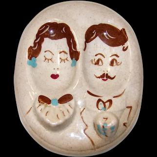 Vintage 1951 Herman's Of Santa Ana California Ceramic Spoon Rest