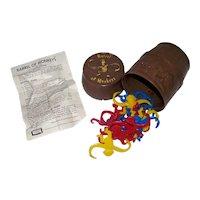Vintage 1966 Lakeside Toys Barrel Of Monkeys Children's Toy Game