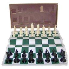 Vintage 1947 Kingsway Florentine 11th Century Chess Set