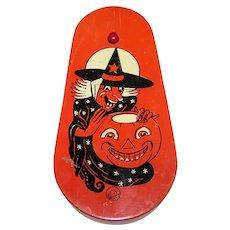 Vintage Mid-Century Halloween Tin Litho Noisemaker