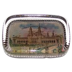Antique Empire Art 1901 Pan American Exposition Glass Paperweight