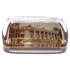 Antique Mount Vernon Mansion Glass Paperweight