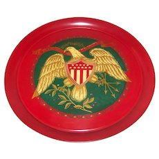 Vintage Mid-Century E Pluribus Unum Golden Eagle Service Tray
