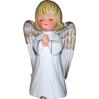 Vintage Mid-Century Made In Japan Import Porcelain Praying Angel