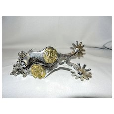 Vintage Spurs with Brass Horse Head