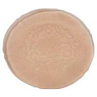 Vintage Frosted Pink Floral Pattern Plate or Serving Platter
