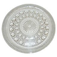Vintage Federal Glass Windsor Clear Service Tray