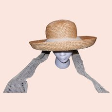 Vintage Betmar Straw Hat with Tie Downs