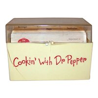 Vintage 1960's Cookin' With Dr. Pepper Recipe Box With Original Dr. Pepper Recipes