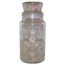 Vintage 1980-83 Mr. Peanut Decorative Collectible Glass Peanut Jar