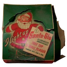 Vintage Santa Glo Christmas Multi-Functional Lighted Tree Topper & Wall Plaque