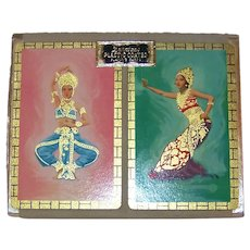 Vintage 1950's Duratone East Indian Dancer Playing Cards