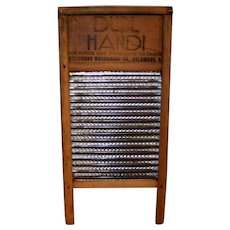 Vintage Wooden Dubl Handi Clothes Rub Board