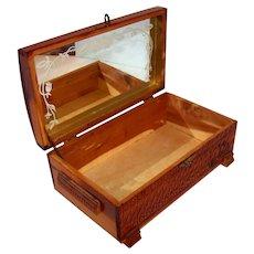 Vintage Wooden Cedar Jewelry/Trinket Box