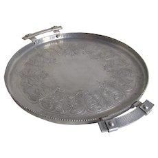 Vintage Farberware Hammered Metalware Snack Tray