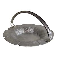 Vintage Continental Hammered Aluminum Metalware Bread Tray