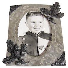 Vintage 1940's Aluminum Metalware Portrait Frame