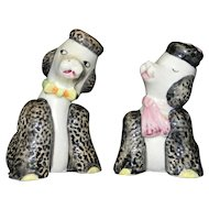 Vintage Poodle Salt and Pepper Shakers by Sonsco