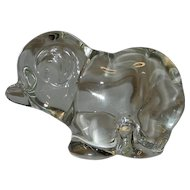 Vintage Marcel Franck Baccarat Crystal Bear Paperweight