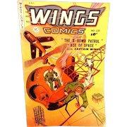 """Vintage 1951 Wings #115 Comic Book """"X Bomb Patrol"""""""