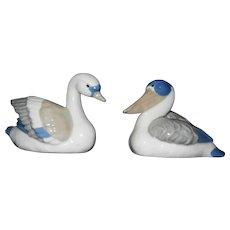 Vintage Goebel Water Bird Figurines- Pelican and Goose