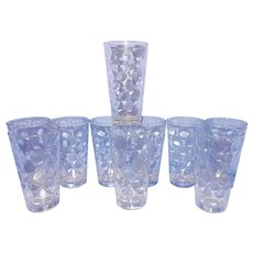 Vintage Coin Dot Water or Tea Glasses