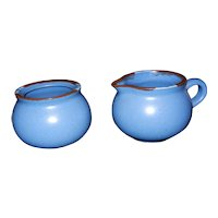 Vintage Dansk International Designs Ltd KW Portugal Mesa Sky Blue Sugar and Creamer