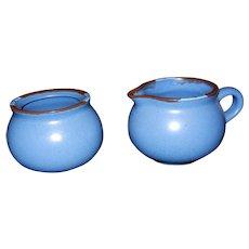 Vintage Dansk International Designs Ltd KW Portugal Mesa Sky Blue Sugar and Creamer