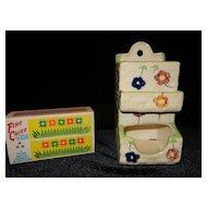 Vintage Ceramic Made in Japan Matchbox 1921-1941