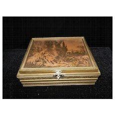 Vintage German Wood Jewelry Box