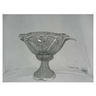 Vintage Indiana Glass Panelled Daisy and Fine Cut Punch Bowl and Cups