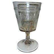 EAPG Philadelphia Centennial Commemorative Goblet 1776-1876