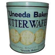 Vintage Uneeda Bakers Butter Wafer Tin