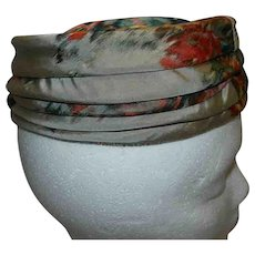 Vintage 1960's Neiman Marcus Custom Made Silk Pillbox Hat