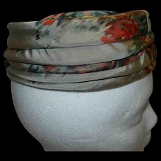 Vintage 1960's Neiman Marcus Custom Made Silk Pillbox Hat