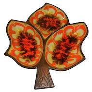 Vintage 60's-70's Treasure Craft Leaf Serving Dish