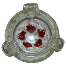 Vintage Unsigned St. Clair Art Glass Controlled Bubble Paperweight Ashtray