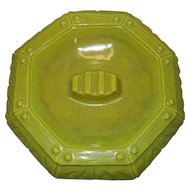 Vintage Mid Century Arnart Green Porcelain Ashtray