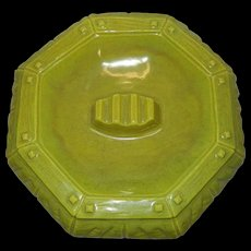 Vintage Mid Century Arnart Green Porcelain Ashtray