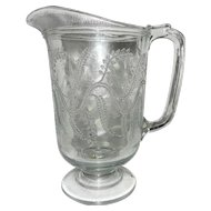 Vintage EAPG Indian Tree Pitcher by Bryce Higbee and Co.