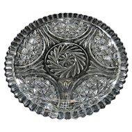 "Vintage Crystal 12"" Cake Plate"