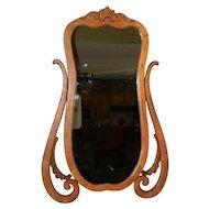 Vintage Wood Framed Wash Stand Mirror- Wall Mirror