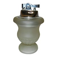 Vintage Frosted Glass Table Lighter