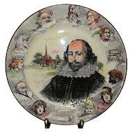 Vintage Royal Doulton Shakespeare's Portrait Plate Pattern #D3194
