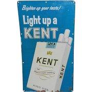 Vintage Kent Cigarette Tin Advertising Sign