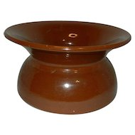 Vintage Brown Crock Pottery Spittoon or Planter